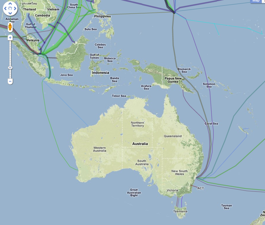 Map of the worlds submarine data cables highlight challenges of