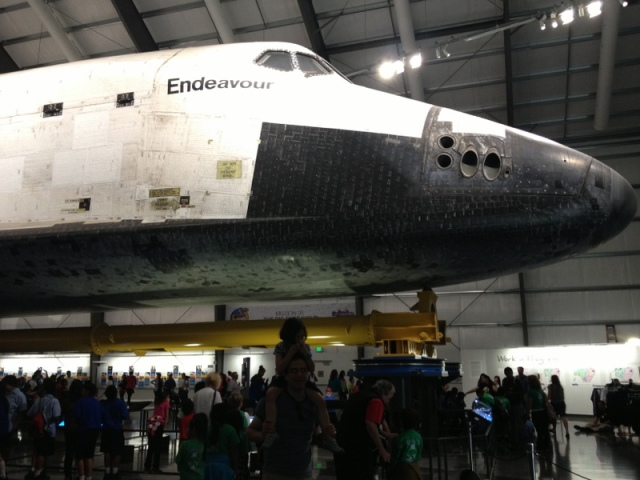 The Endeavor was impressive, but the kids were more excited about the older, smaller scale capsules