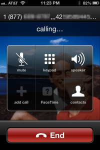 InstantMeeting automatically constructs a dialing number including the conference code and confirmation