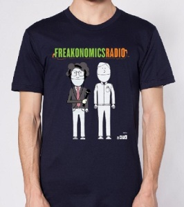 The Freakonomics Radio show is clearly about the hosts, Dubner and Levitt