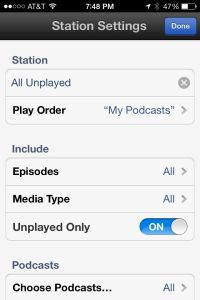 Clear, easy to manage smart playlist settings
