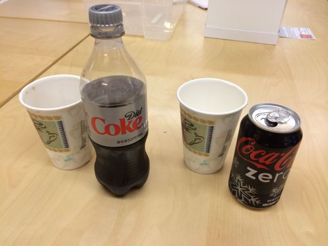 The Diet Coke / Coke Zero taste test