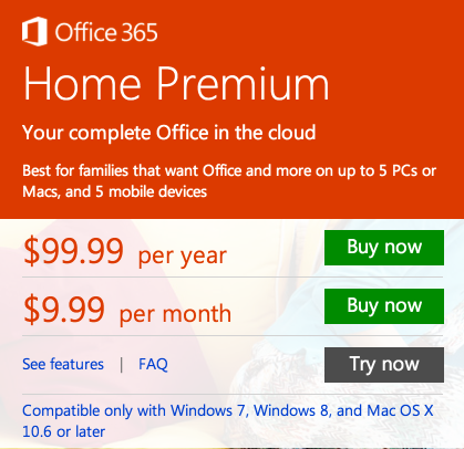 Office 365 comes more compelling if you are installing it on multiple computers