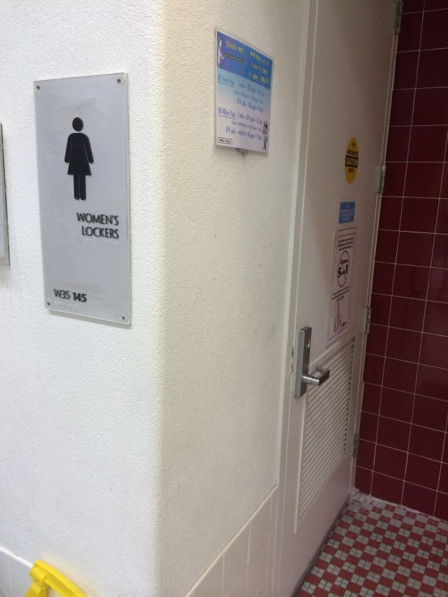 Kids over five years of age are forbidden to enter the locker room of the opposite gender