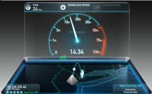 Internet speed from tethering using my AT&T LTE is 10x - 20x faster.