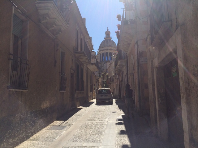 The phone's GPS said we could drive on these streets in Ragusa, but I wouldn't care to try that again.