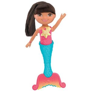 The swimming mermaid Dora was once a prized possession but was now ust sitting in a corner.