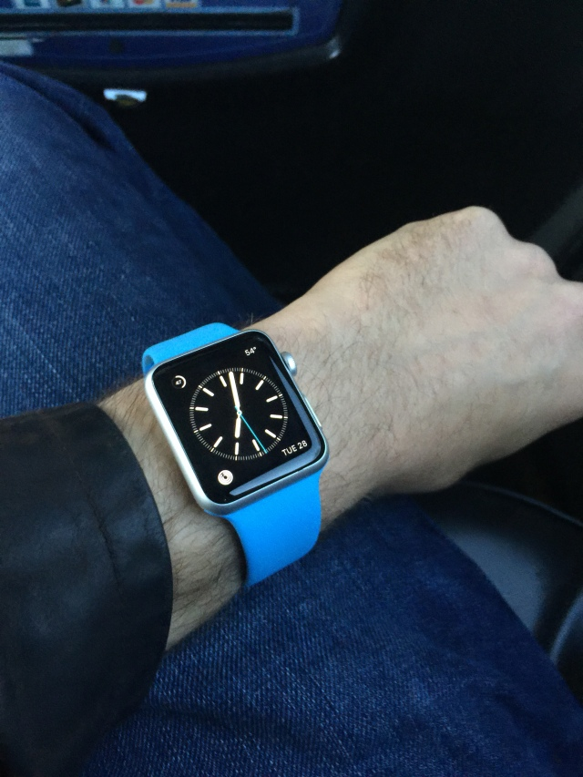 I went with the Apple Watch Sport with the blue band.
